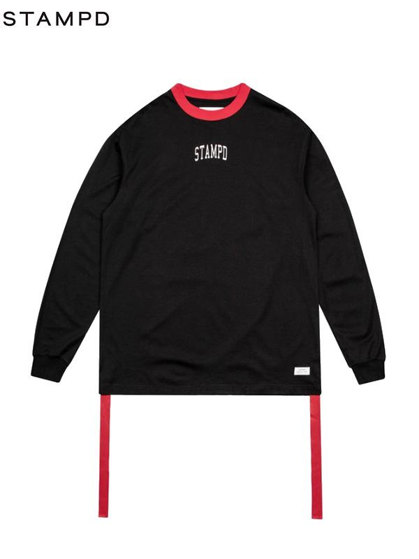 画像1: 【STAMPD - スタンプド】Collegiate L/S / Black (Tシャツ/ブラック) (1)