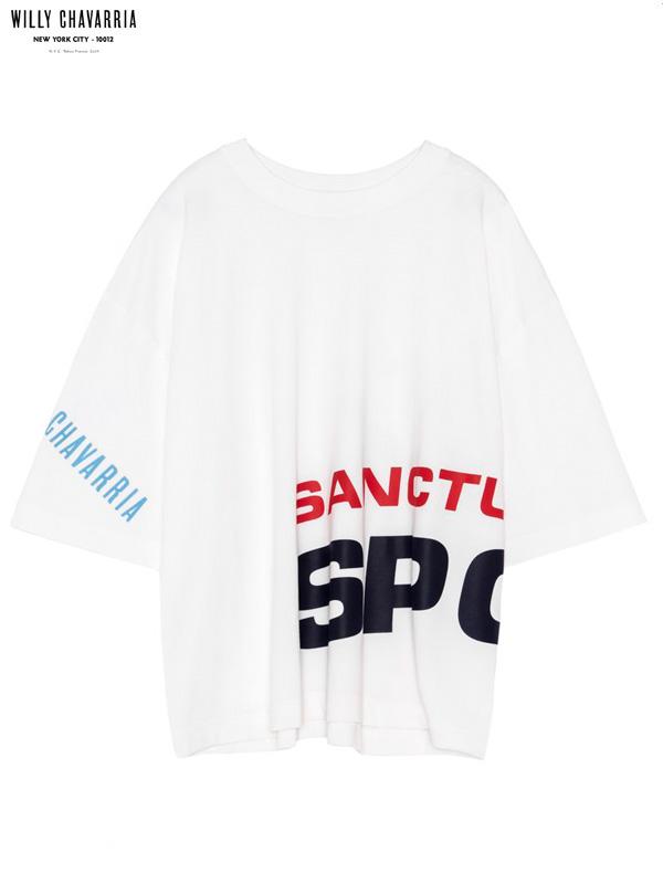 画像1: 【WILLY CHAVARRIA - ウィリーキャバリア】MACHO BUFFALO T SPORT / OFF WHITE(Tシャツ/オフホワイト) (1)