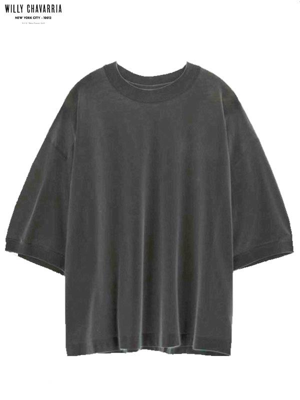 画像1: 【WILLY CHAVARRIA - ウィリーキャバリア】BEEFCAKE BUFFALO T W/ PRINT / CHARCOAL(Tシャツ/チャコール) (1)