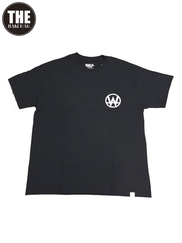 画像1: 【WAX - ワックス】WAX SHADOW PLAY pocket S/S tee / BLACK(Tシャツ/ブラック) (1)
