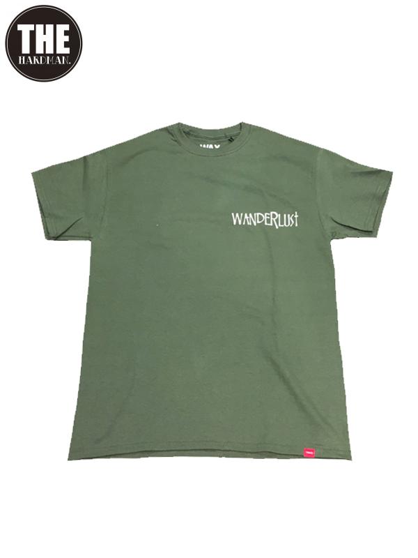 画像1: 【THE HARD MAN - ザハードマン】WANDERLUST S/S tee / Khaki(Tシャツ/カーキ) (1)