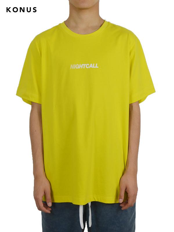 画像1: 【KONUS - コーナス】Graphic Tee  / Yellow (Tシャツ/イエロー) (1)