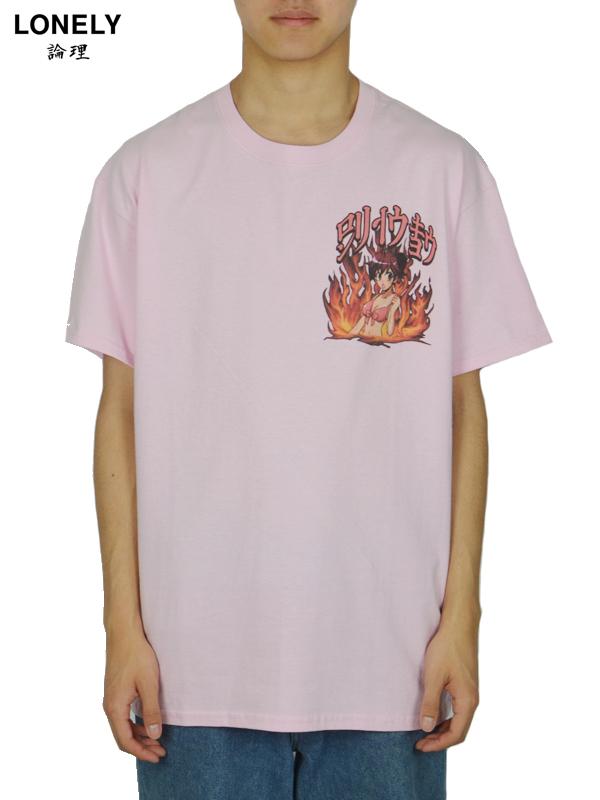 画像1: 【LONELY~ 論理 ~ - ロンリー】Animesm Tee  / Pink (Tシャツ/ピンク) (1)