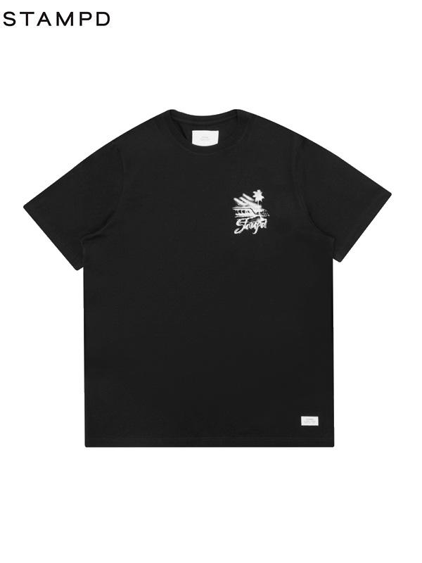 画像1: 【STAMPD - スタンプド】Boardwalk Tee / Black (Tシャツ/ブラック) (1)