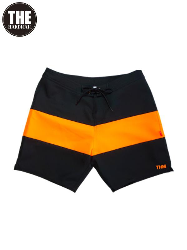 画像1: 30%OFF【THE HARD MAN - ザハードマン】Black&Neon baggies / Orange(ショーツ/オレンジ)  (1)