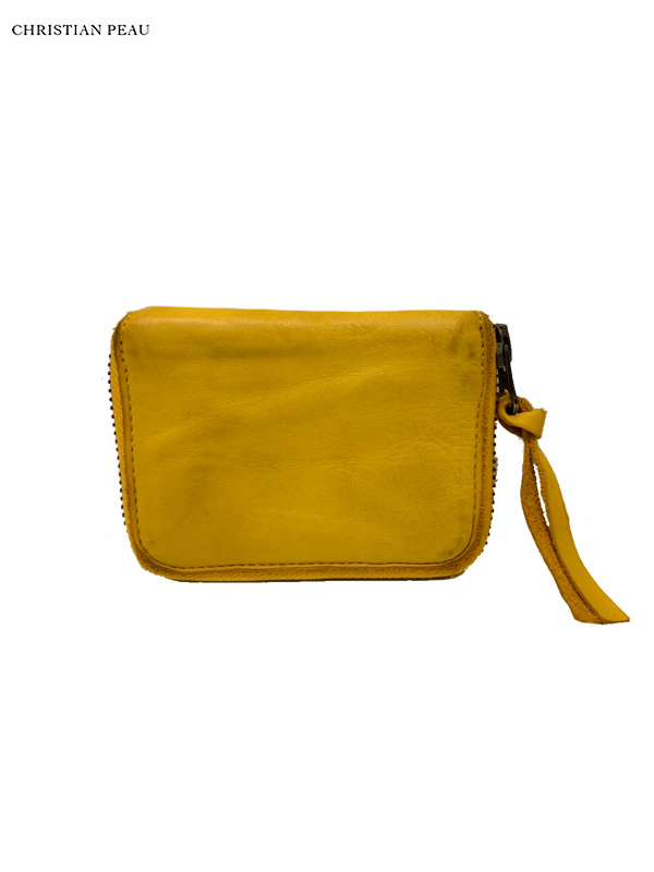 """画像1: 【Christian Peau - クリスチャンポー】5130 CP S """"Cow Leather"""" / Yellow(ウォレット/イエロー) (1)"""