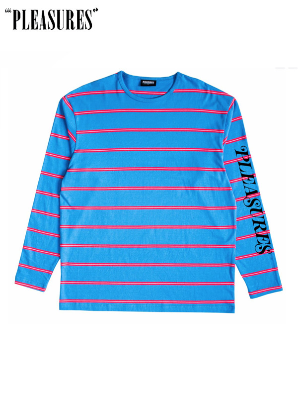 画像1: 20%OFF【PLEASURES】Scream Striped L/S / Blue (L/S/ブルー) (1)