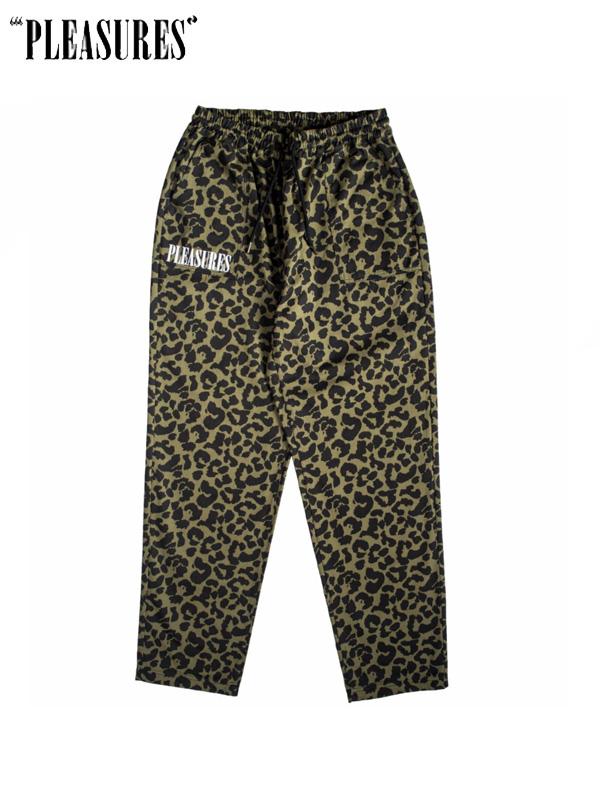 画像1: 【PLEASURES】Leopard Beach Pant / Green Leopard (ボトムス/グリーンレオパード) (1)