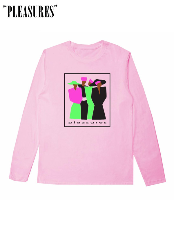 画像1: 20%OFF【PLEASURES】Leo L/S / Pink (L/S/ピンク) (1)