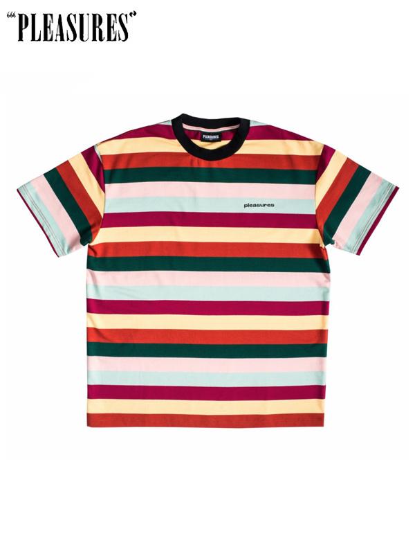 画像1: 【PLEASURES】Inbox Striped Shirt / Multi (Tシャツ/マルチ) (1)