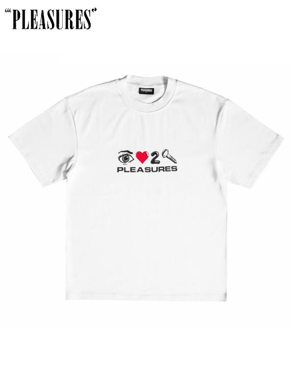 画像1: 【PLEASURES】Screw Heavyweight Shirt / White (Tシャツ/ホワイト) (1)