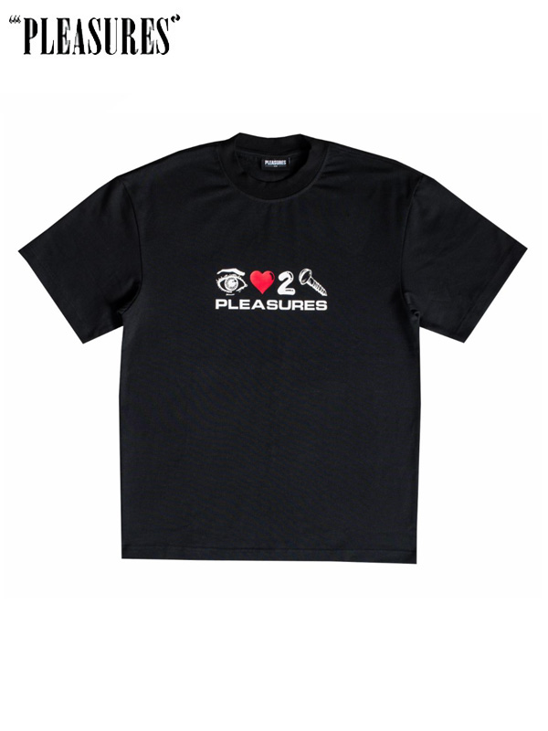 画像1: 20%OFF【PLEASURES】Screw Heavyweight Shirt / Black (Tシャツ/ブラック) (1)