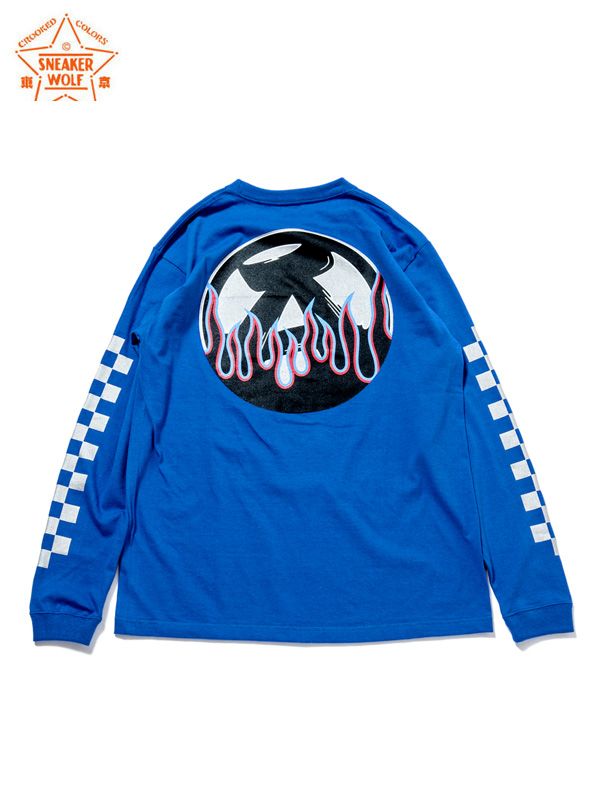 """画像1: 【The Wolf In Sheep's Clothing】""""ANARCHY IN THE E.P"""" LS T-Shirts / BLUE(Tシャツ/ブルー) (1)"""