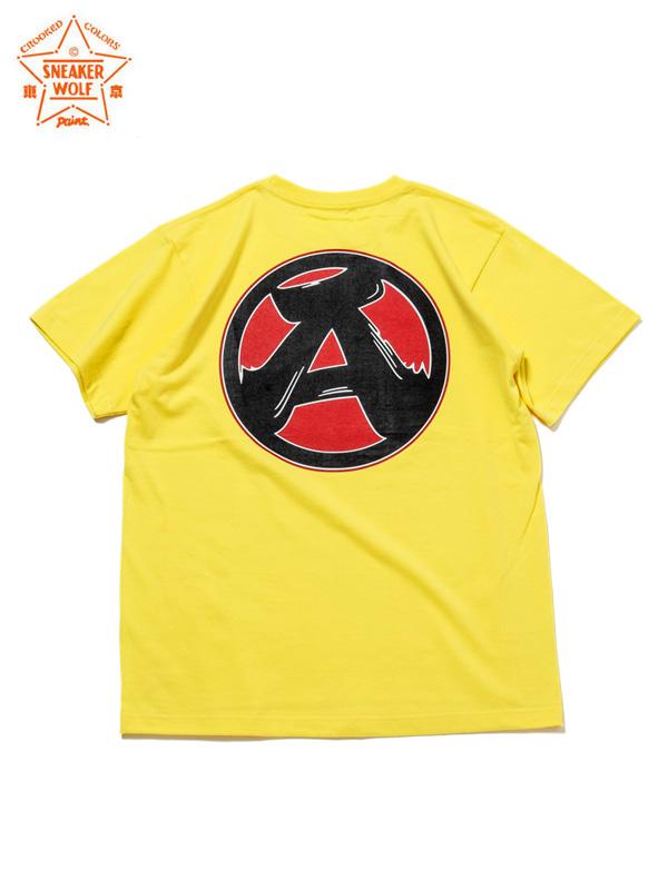 """画像1: 【The Wolf In Sheep's Clothing】""""A"""" SS T-Shirts / YELLOW(Tシャツ/イエロー) (1)"""