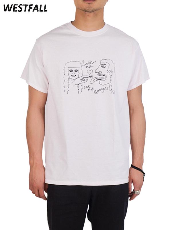 画像1: 【WESTFALL - ウェストフォール】Boogers S/S Tee / Plain White(Tシャツ/ホワイト)  (1)