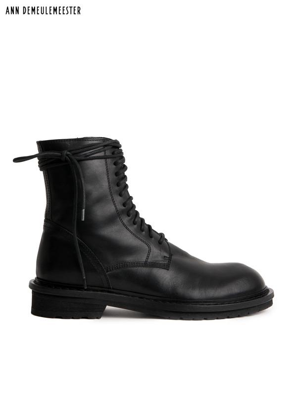 画像1: 【ANN DEMEULEMEESTER - アン ドゥムルメステール】SHOES VITELLO LUCIDO NERO / Cow leather(ブーツ/ブラック) (1)