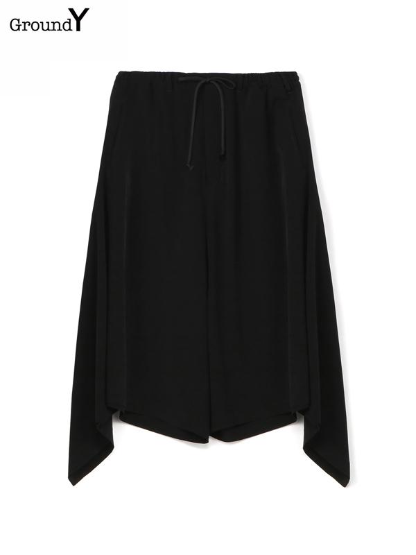 画像1: 【Ground Y  - グラウンドワイ】side drape PT/ Black(パンツ/ブラック)  (1)