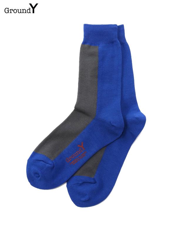 画像1: 【Ground Y  - グラウンドワイ】color socks/ L Blue(ソックス/ライトブルー)  (1)
