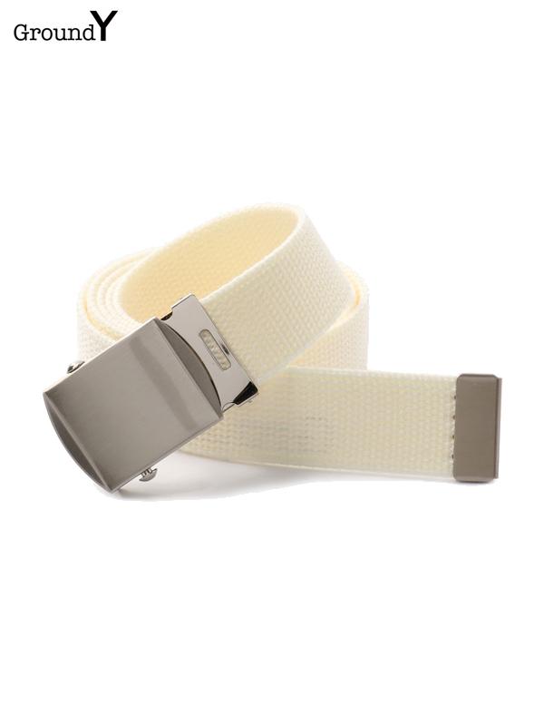 画像1: 【Ground Y  - グラウンドワイ】logo belt / White(ベルト/ホワイト)  (1)