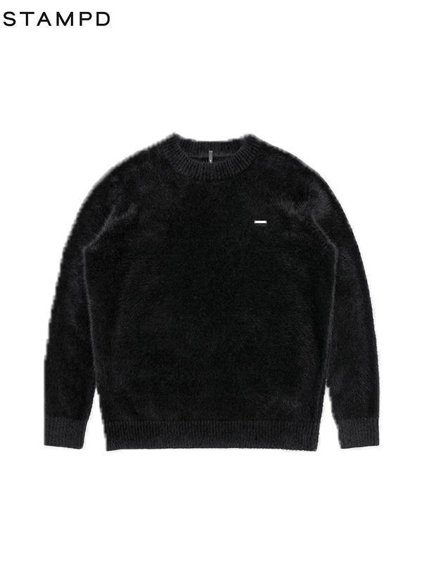 画像1: 【STAMPD - スタンプド】Angora Crewneck / Black (セーター/ブラック) (1)