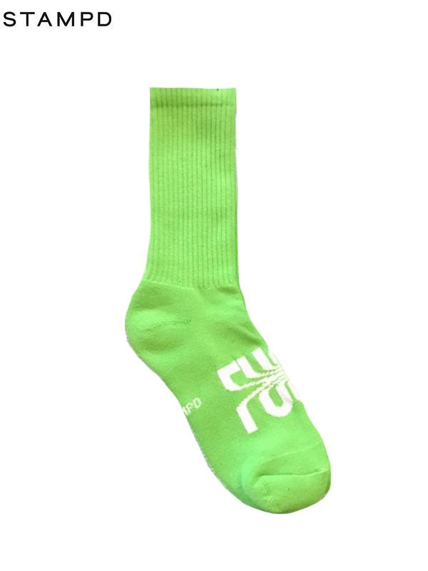 画像1: 【STAMPD - スタンプド】Fuck Off Socks / Neon (ソックス/ネオン) (1)