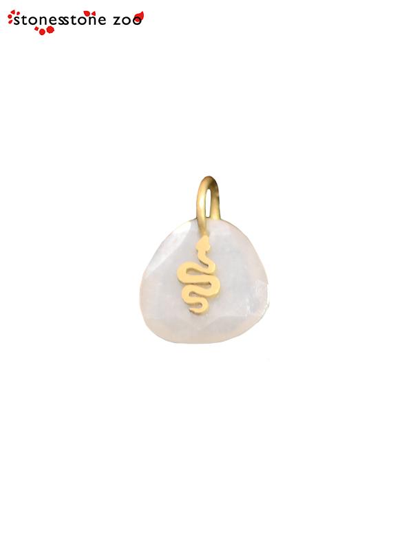 """画像1: 【Stones Stone Zoo - ストーンズ ストーン ズー】""""SNAKE"""" PENDANT / Moon Stone (ペンダント/ムーンストーン) (1)"""