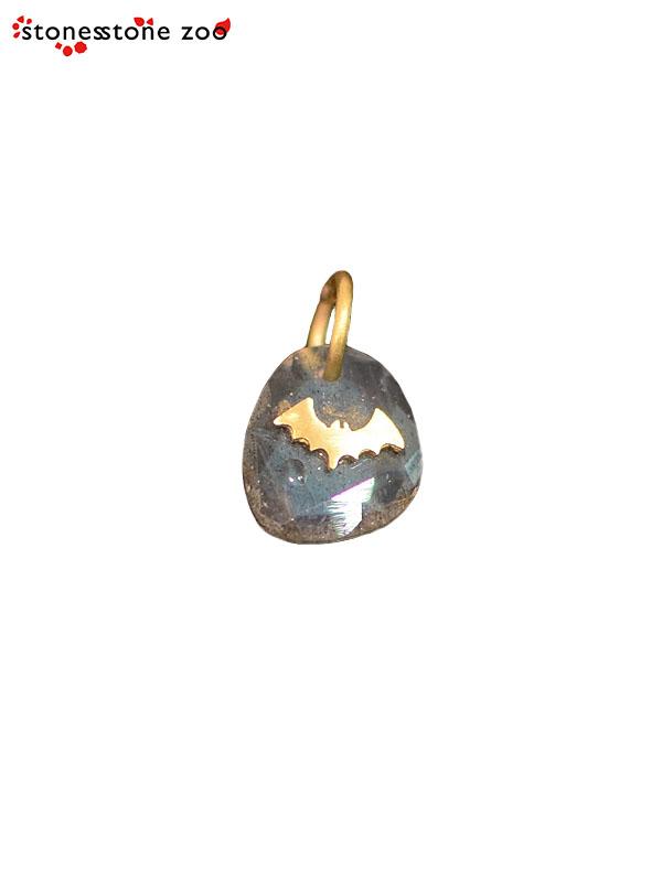 """画像1: 【Stones Stone Zoo - ストーンズ ストーン ズー】""""FLYING BATS"""" PENDANT / Labradorite (ペンダント/ラブラドライト) (1)"""