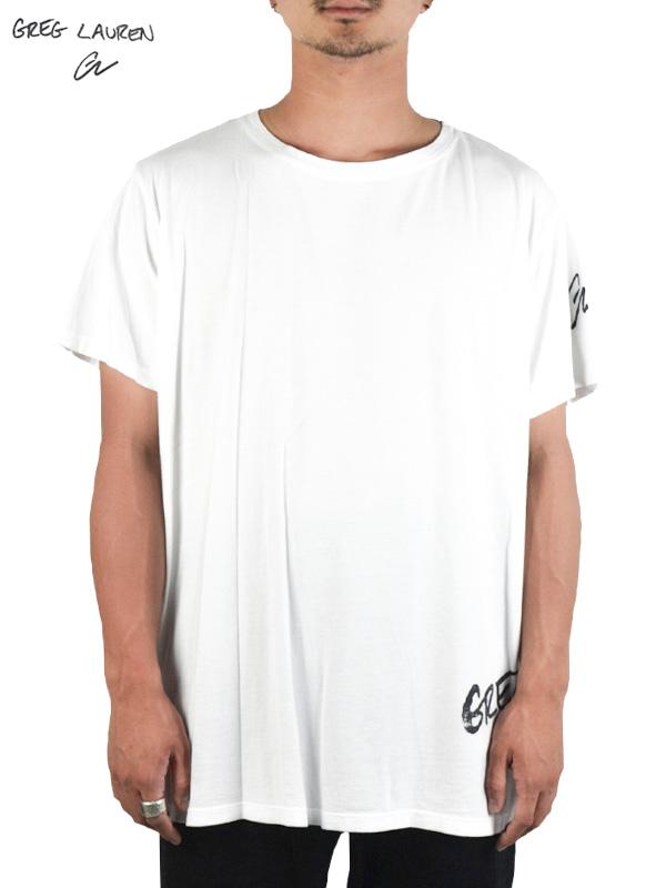 画像1: 【GREG LAUREN - グレッグローレン】White Deconstructed GL Tee/ White(Tシャツ/ホワイト) (1)