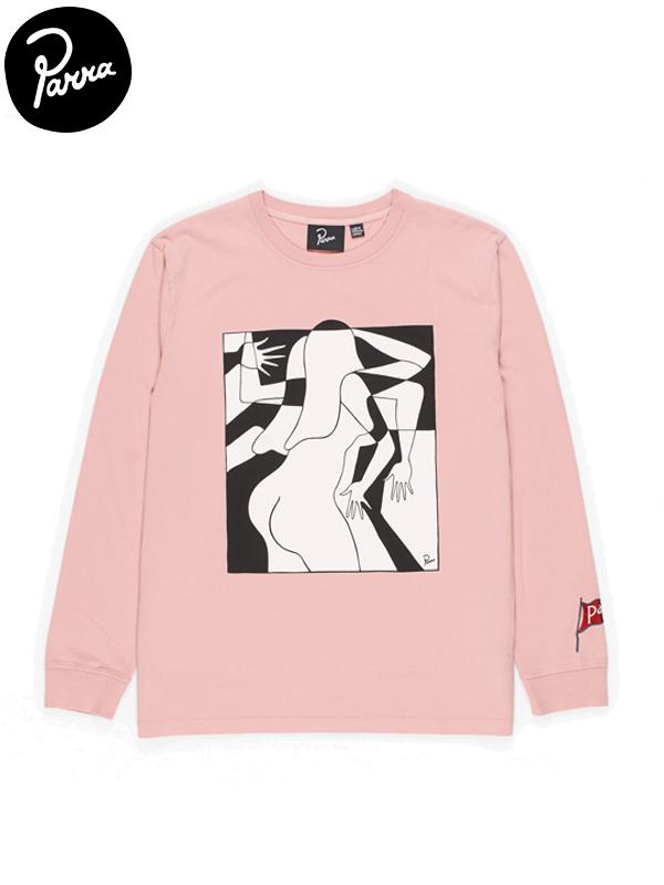 画像1: 【by Parra - バイ パラ】Artist businesswoman L/S Tee / Pink(Tシャツ/ピンク) (1)