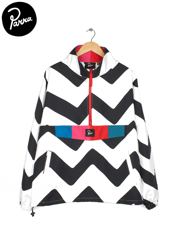 画像1: 【by Parra - バイ パラ】Vase mountain stripes windbreaker / White(パーカー/ホワイト)  (1)