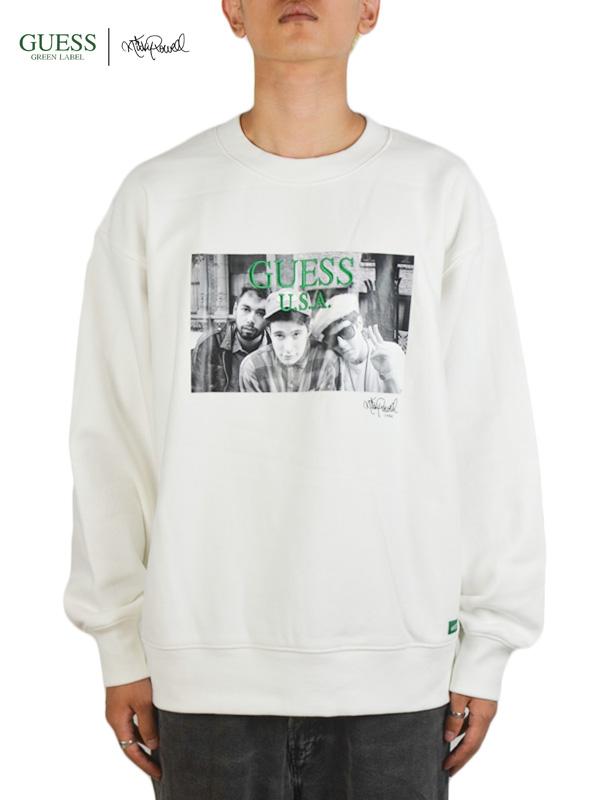 画像1: 【GUESS GREEN LABEL × Ricky Powell】Beastie Boys SW  P2/ White (スウェット/ホワイト) (1)