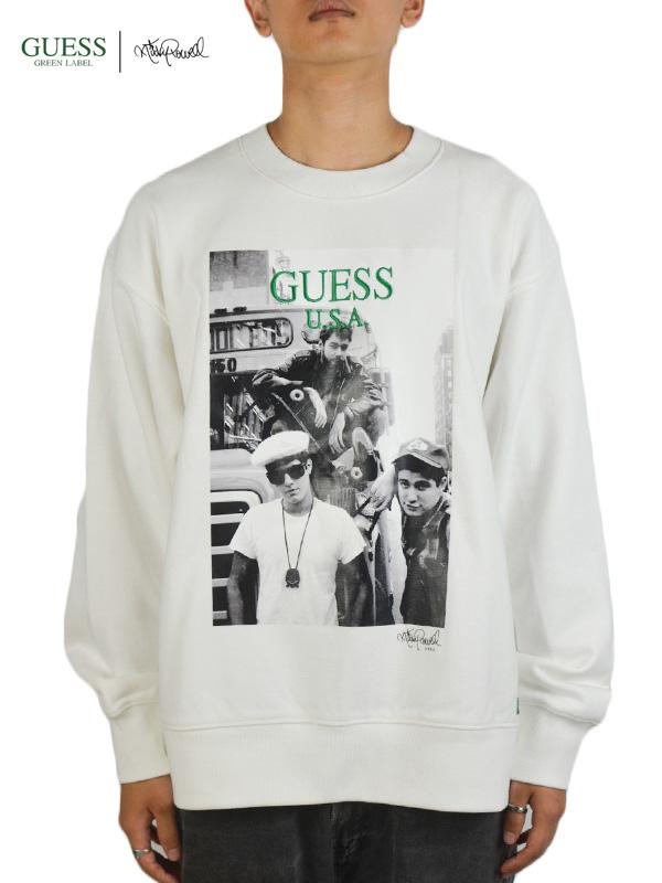 画像1: 【GUESS GREEN LABEL × Ricky Powell】Beastie Boys SW  P1/ White (スウェット/ホワイト) (1)