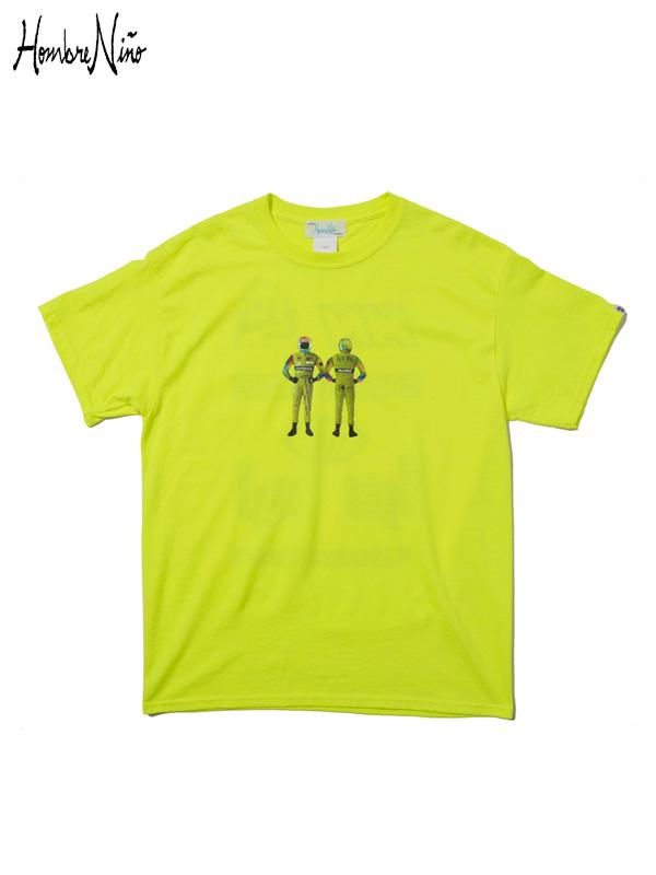 """画像1: 【Hombre Nino - オンブレニーニョ】S/S T-SHIRT """"RACER"""" / S.Green(Tシャツ/グリーン) (1)"""