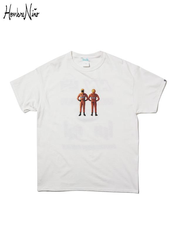 """画像1: 【Hombre Nino - オンブレニーニョ】S/S T-SHIRT """"RACER"""" / White(Tシャツ/ホワイト) (1)"""