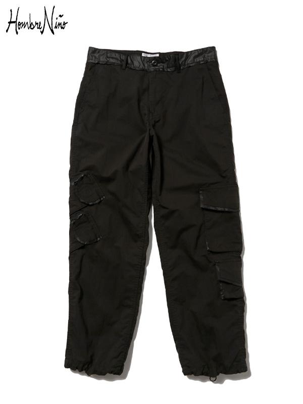 画像1: 【Hombre Nino - オンブレニーニョ】CARGO PANTS AW19 / BLACK (カーゴパンツ/ブラック) (1)