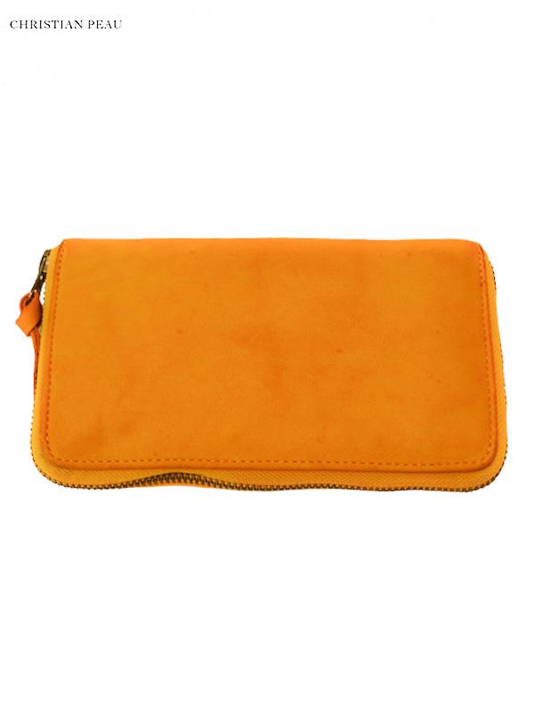 """画像1: 【Christian Peau - クリスチャンポー】B004 Wallet """"Cow Leather"""" / Yellow(ウォレット/イエロー) (1)"""