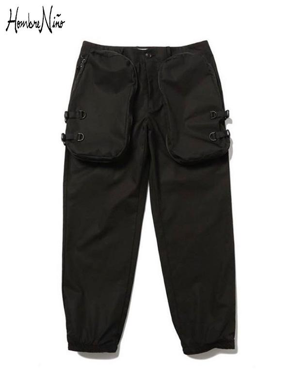 画像1: 【Hombre Nino - オンブレニーニョ】CARGO PANTS / Black (カーゴパンツ/ブラック) (1)