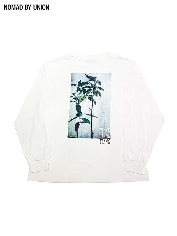 画像1: 【NOMAD BY UNION - ノバド バイ ユニオン】YLANG YLAMG L/S Tee / White(Tシャツ/ホワイト) (1)