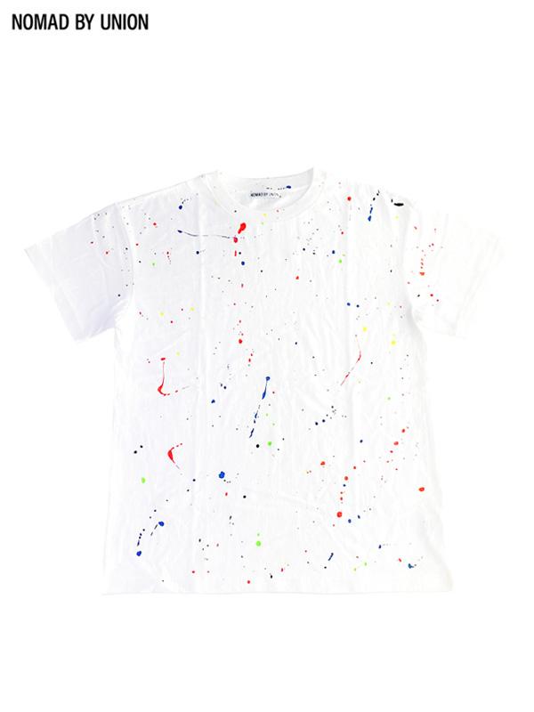 画像1: 【NOMAD BY UNION - ノバド バイ ユニオン】Drawing Tee / White(Tシャツ/ホワイト) (1)