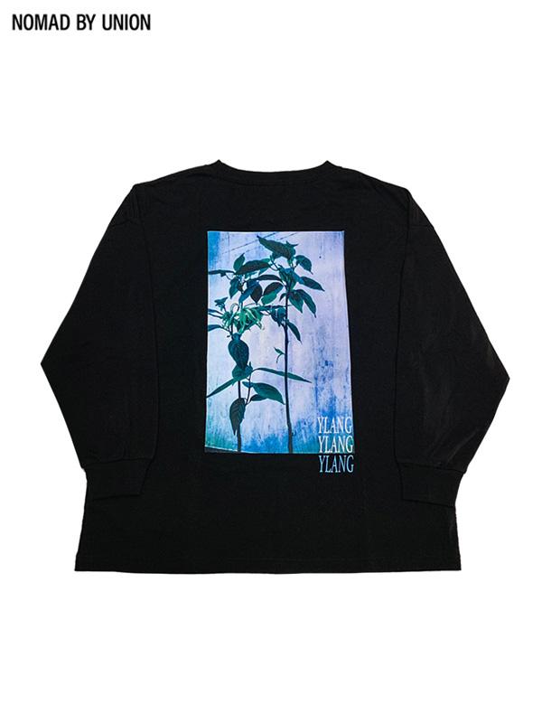 画像1: 【NOMAD BY UNION - ノバド バイ ユニオン】YLANG YLAMG L/S Tee / Black(Tシャツ/ブラック) (1)