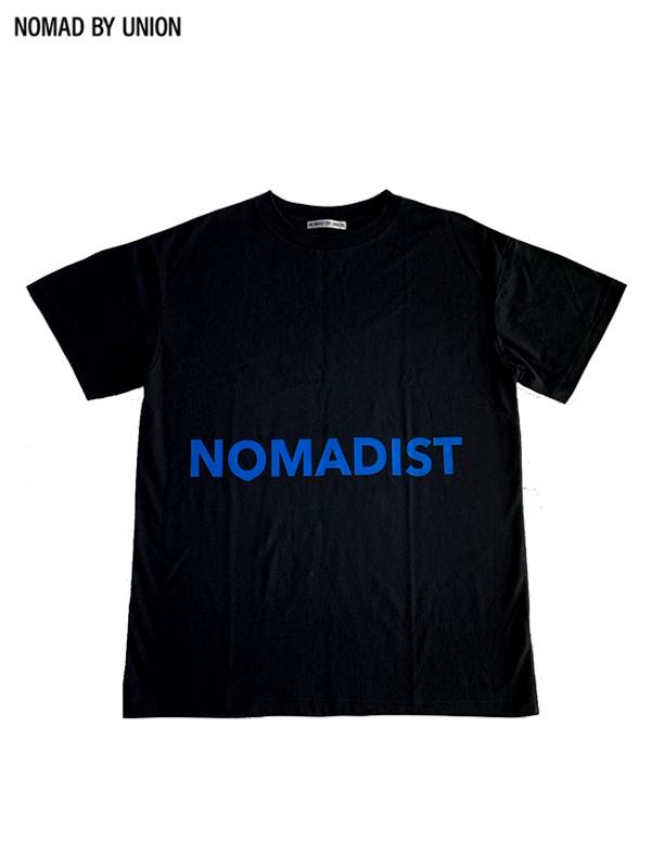 画像1: 【NOMAD BY UNION - ノバド バイ ユニオン】NOMADIST Tee / Black / Blue(Tシャツ/ブラック) (1)