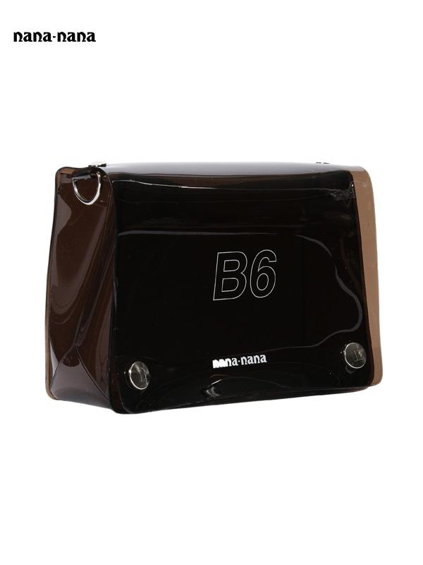 画像1: 【nana-nana - ナナ ナナ】B6 Clear Bag / Black (ショルダーバッグ/ブラック) (1)