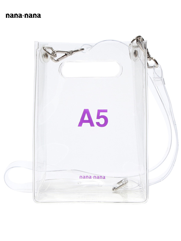 画像1: 【nana-nana - ナナ ナナ】A5 Clear Bag / Clear(ショルダーバッグ/クリア) (1)