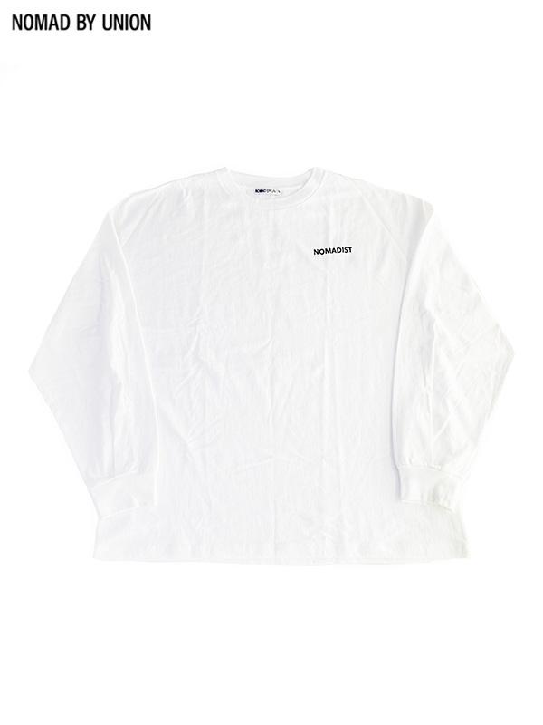 画像1: 【NOMAD BY UNION - ノバド バイ ユニオン】NOMADIST L/S Tee / White(Tシャツ/ホワイト) (1)