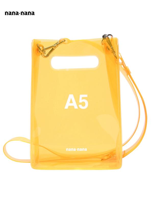 画像1: 【nana-nana - ナナ ナナ】A5 Clear Bag / Neon Orange(ショルダーバッグ/ネオンオレンジ) (1)