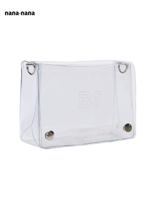 画像1: 【nana-nana - ナナ ナナ】B6 Clear Bag / Clear (ショルダーバッグ/クリア) (1)