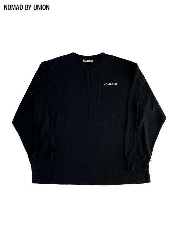 画像1: 【NOMAD BY UNION - ノバド バイ ユニオン】NOMADIST L/S Tee / Black(Tシャツ/ブラック) (1)
