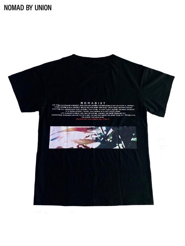 画像1: 【NOMAD BY UNION - ノバド バイ ユニオン】BOTANICAL S/S Tee / Black(Tシャツ/ブラック) (1)