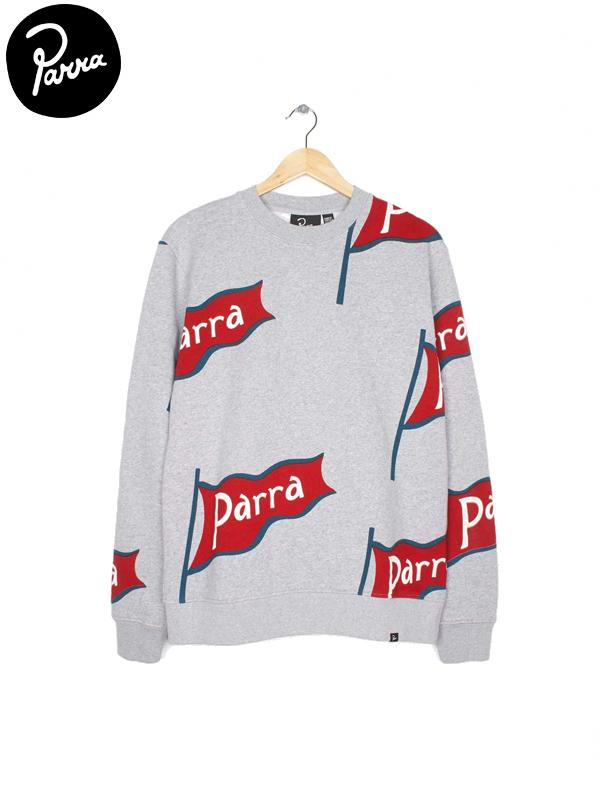 画像1: 【by Parra - バイ パラ】flapping flag crew neck sweater / heather grey (スウェット/グレー) (1)