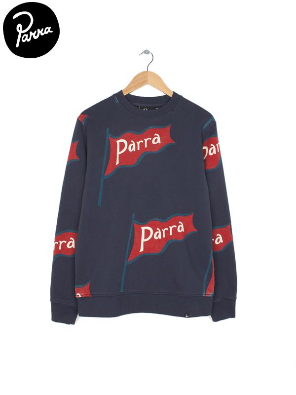 画像1: 【by Parra - バイ パラ】flapping flag crew neck sweater / Black (スウェット/ブラック) (1)